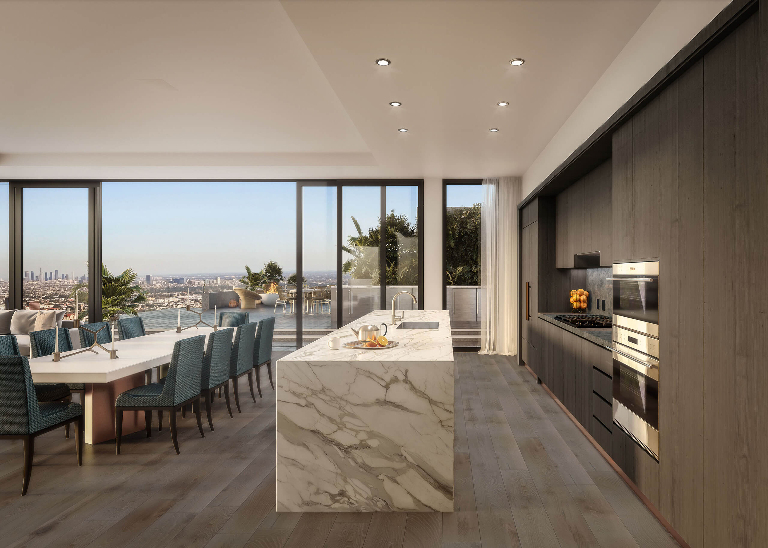 Rendering of Pendry Residences Kitchen